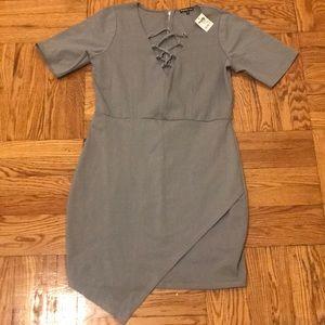 🔴1X NWT Sexy grey dress
